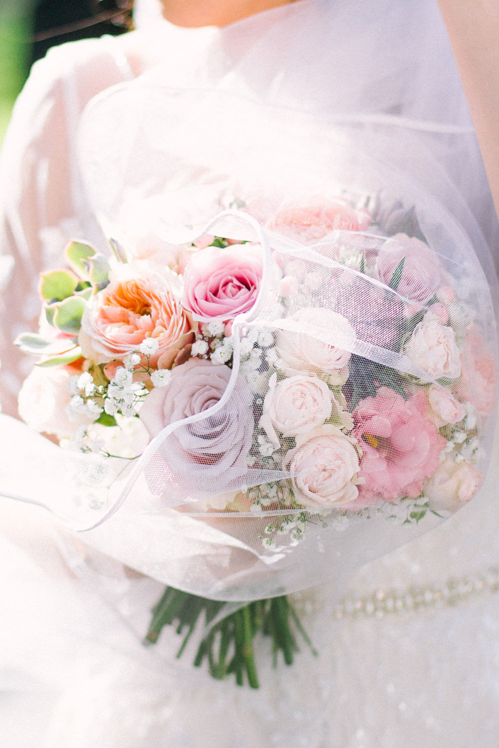 Bride Bridal Blush Pastel Bouquet Veil Barn At Barra Castle Wedding Ceranna Photography