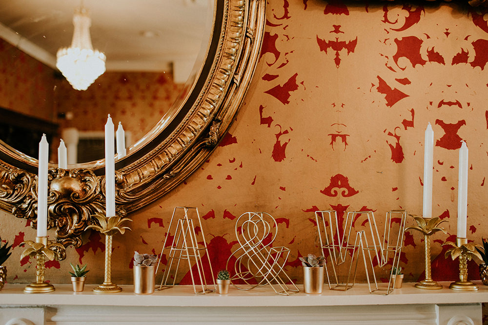 Wire Letters Initials Decor Bell Ticehurst Wedding Irene Yap Photography