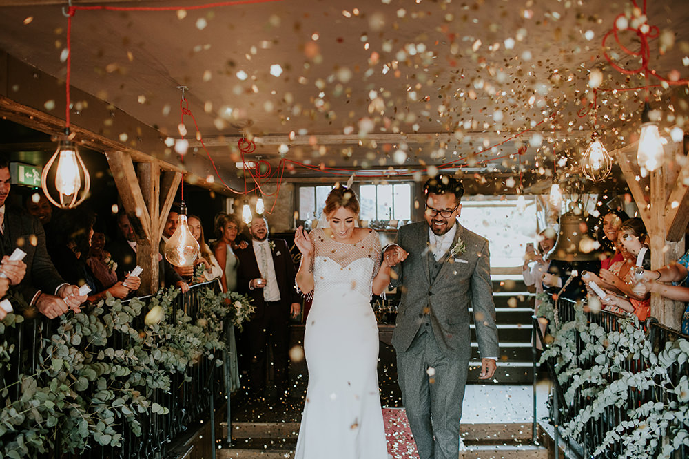 Glitter Gold Confetti Bell Ticehurst Wedding Irene Yap Photography