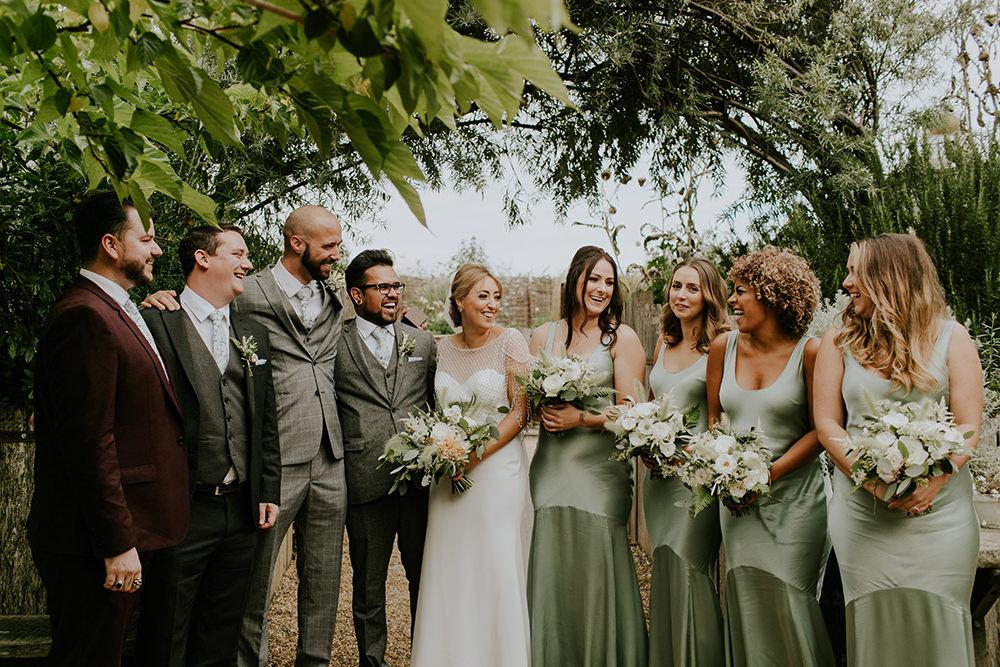 Sage Green Bridesmaid Dress Dresses Long Silk Bell Ticehurst Wedding Irene Yap Photography