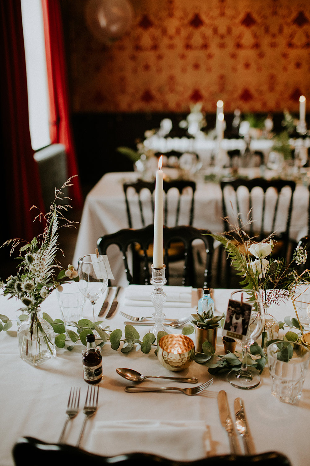 Table Decor Greenery Foliage Eucalyptus Swag Garland Runner Bell Ticehurst Wedding Irene Yap Photography