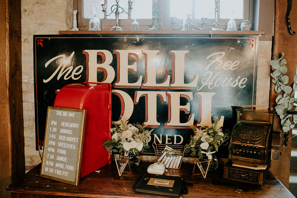 Post Box Card Box Bell Ticehurst Wedding Irene Yap Photography