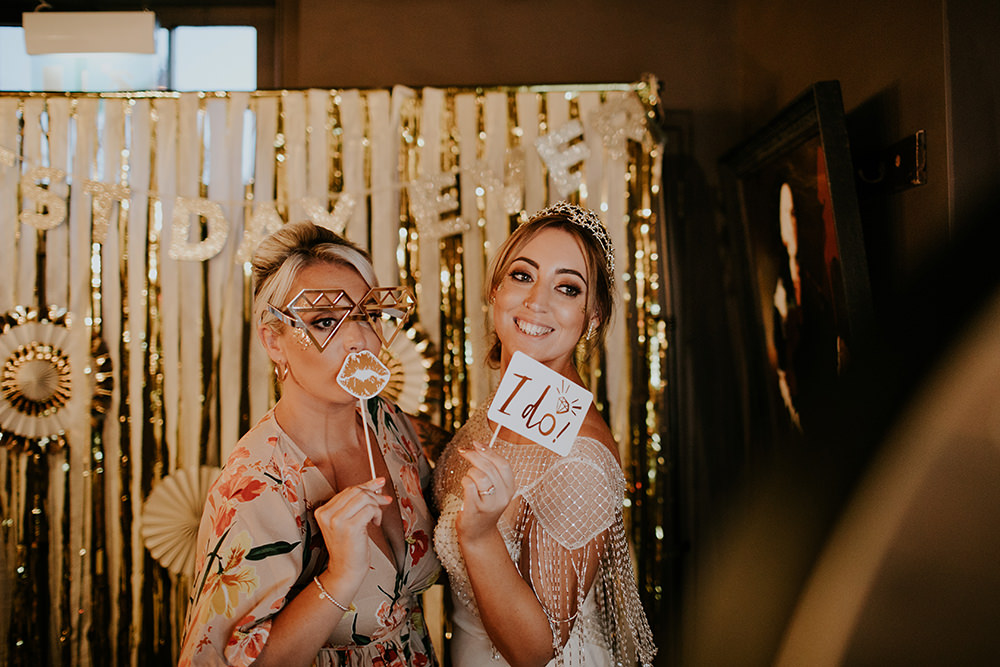 Photo Booth Props Backdrop Bell Ticehurst Wedding Irene Yap Photography