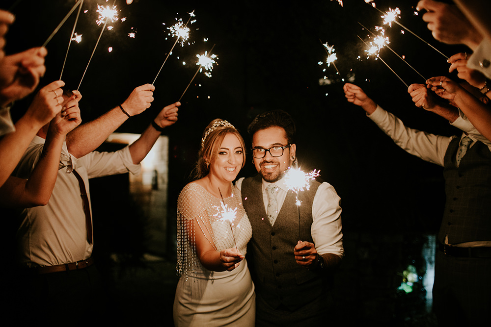 Sparklers Send Off Exit Bell Ticehurst Wedding Irene Yap Photography