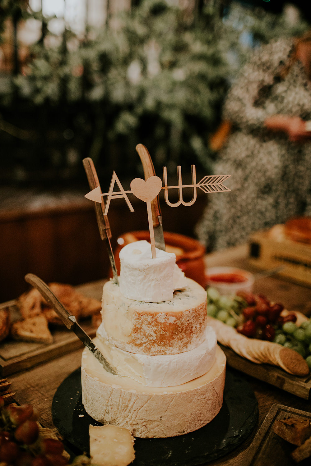 Cheese Tower Stack Cake Fruit Bell Ticehurst Wedding Irene Yap Photography