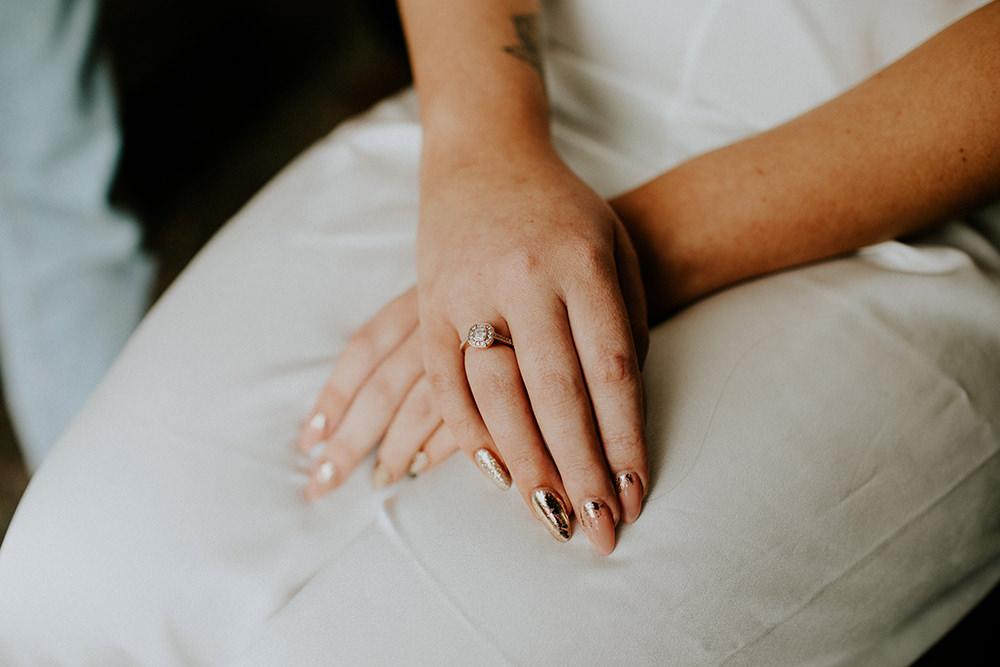 Bride Bridal Nails Mani Manicure Bell Ticehurst Wedding Irene Yap Photography