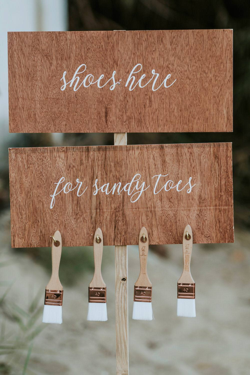 Shoe Station Sandy Toes Seaside Ceremony Bohemian Beach Greece Destination Wedding Lighthouse Photography