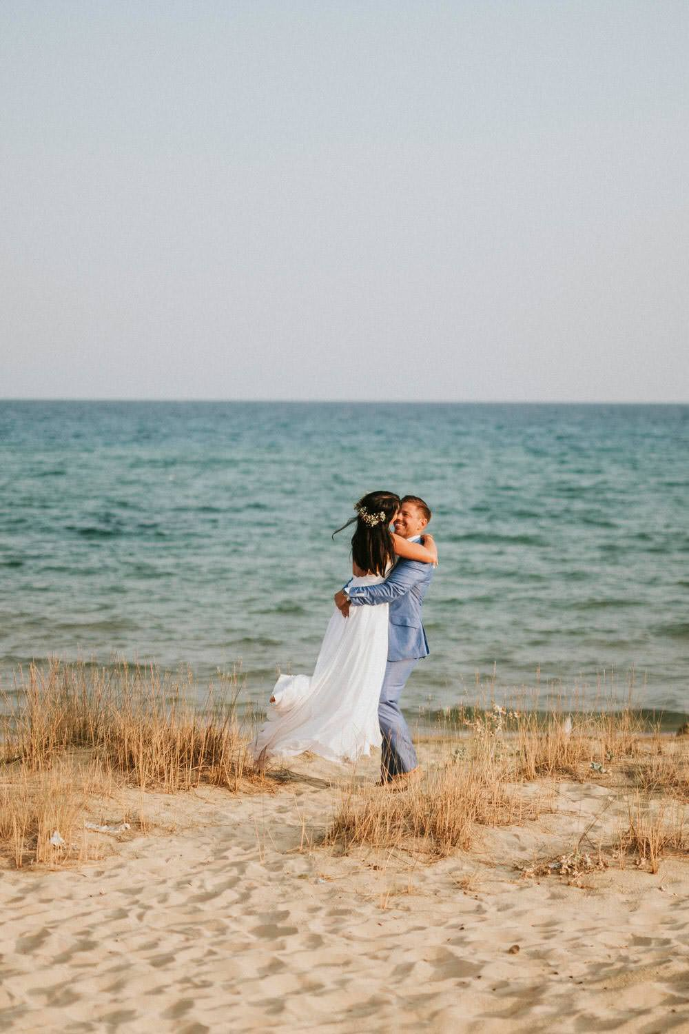 Bohemian Beach Greece Destination Wedding Lighthouse Photography
