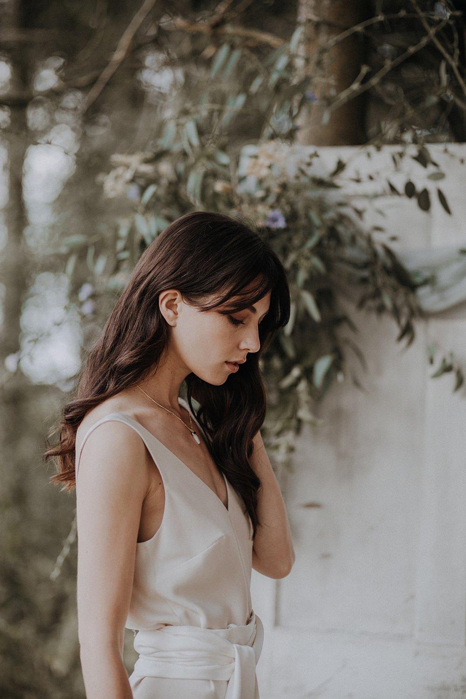 Bride Bridal Hair Fringe Long Waves Loose Bohemian Woodland Wedding Ideas Lola Rose Photography
