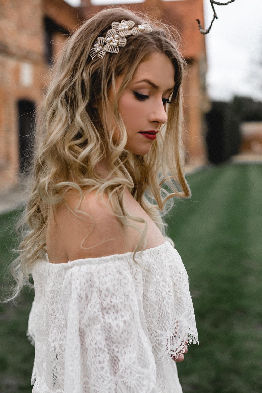 Bride Bridal Bohemian Hair Waves Make Up Boho Modern Romance Wedding Ideas Masha Unwerth Photography