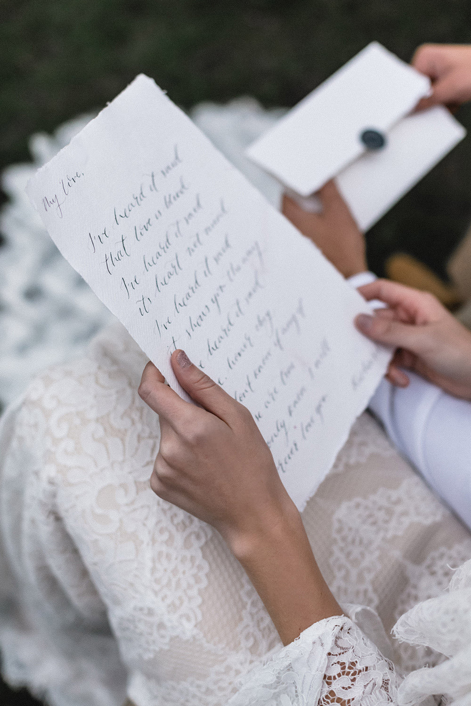 Calligraphy Stationery Letter Boho Modern Romance Wedding Ideas Masha Unwerth Photography