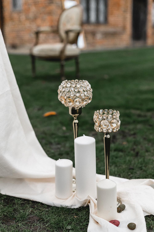 Candles Decor Fabric Boho Modern Romance Wedding Ideas Masha Unwerth Photography