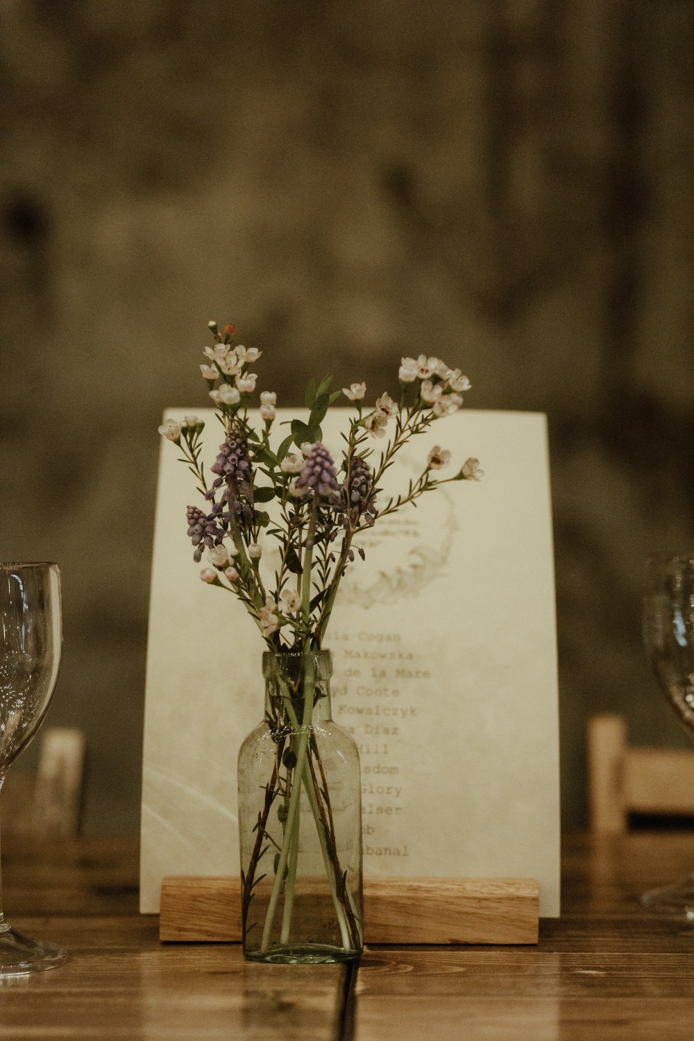 Bottle Flowers Table Decor Brunel Museum Wedding Olivia and Dan Photography