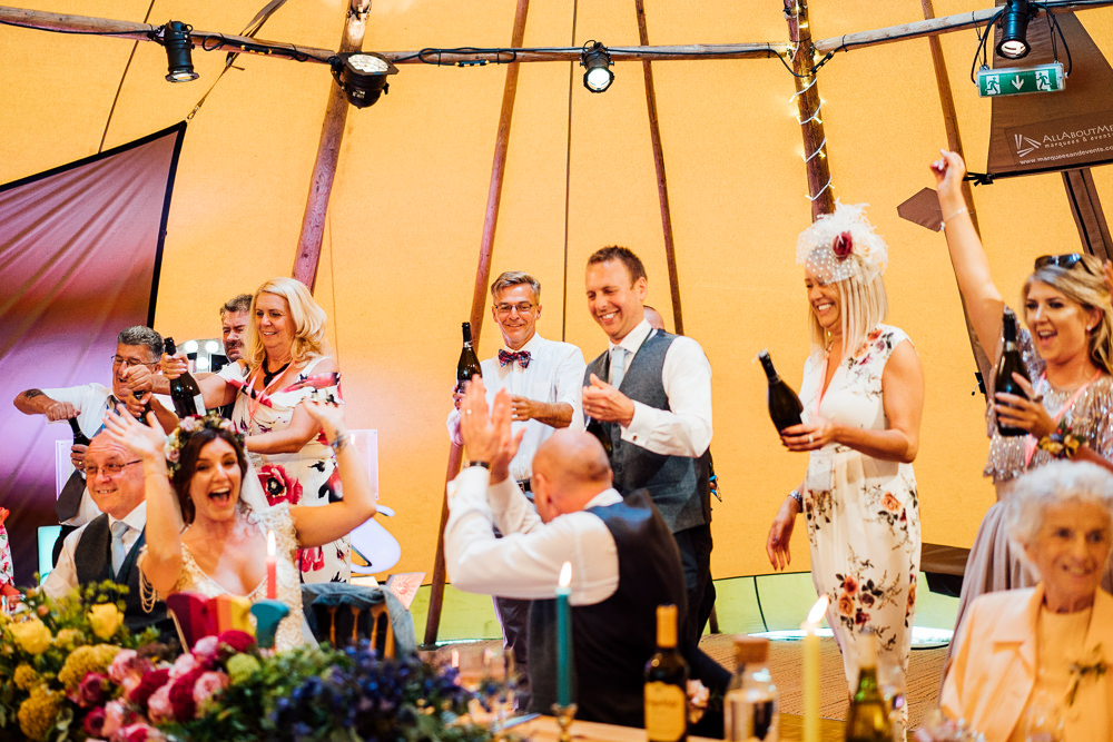 Colourful Tipi Garden Wedding Fairclough Studios