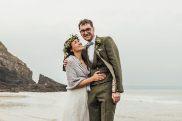 Cosy Boho Beach Autumn Wedding