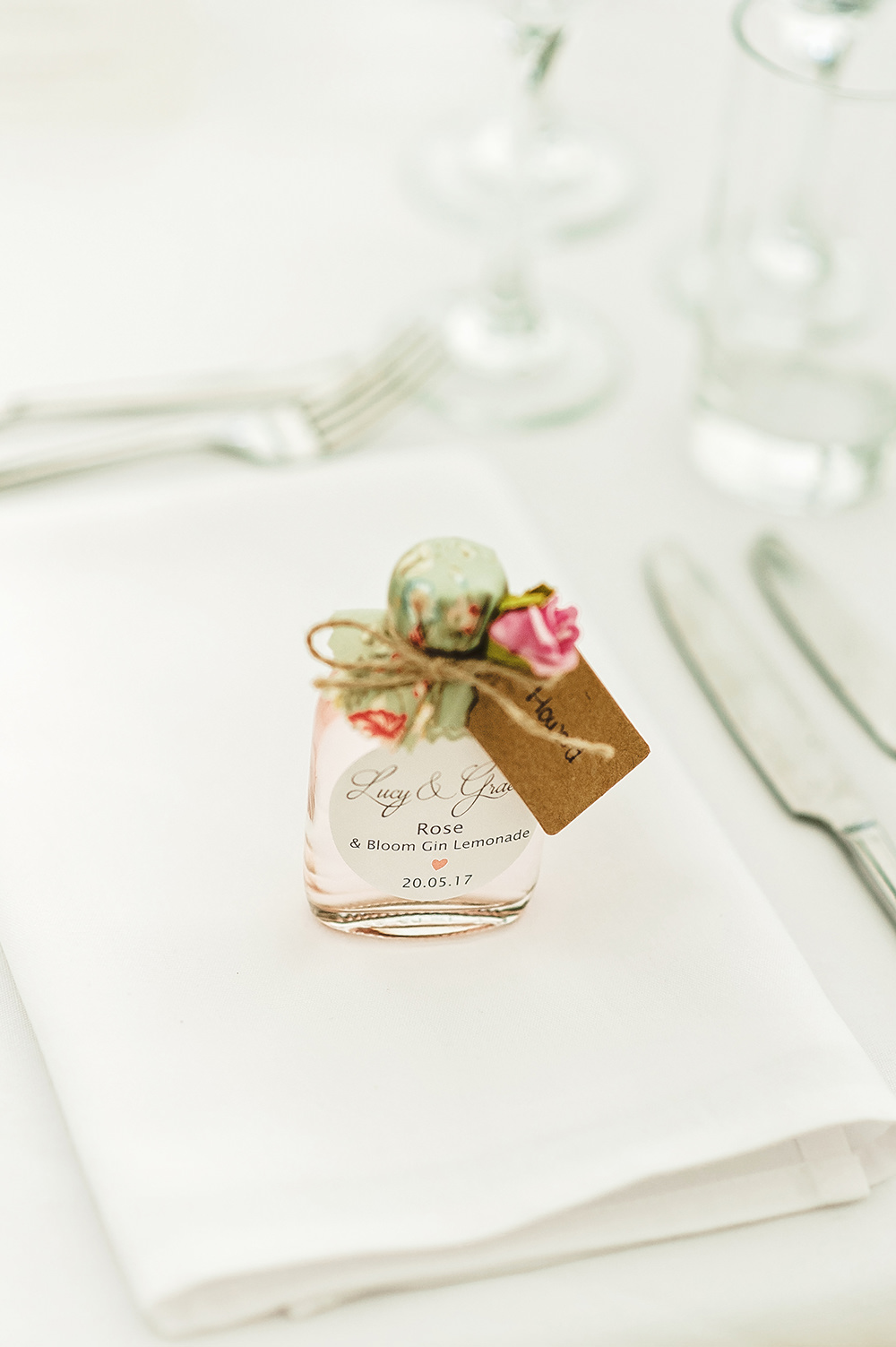 Favours Gin Edmondsham House Wedding Darima Frampton Photography