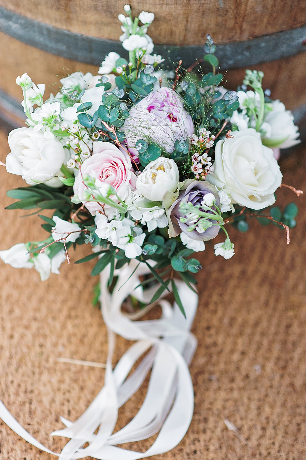 Bride Bridal Bouquet Peony Rose Pink White Edmondsham House Wedding Darima Frampton Photography
