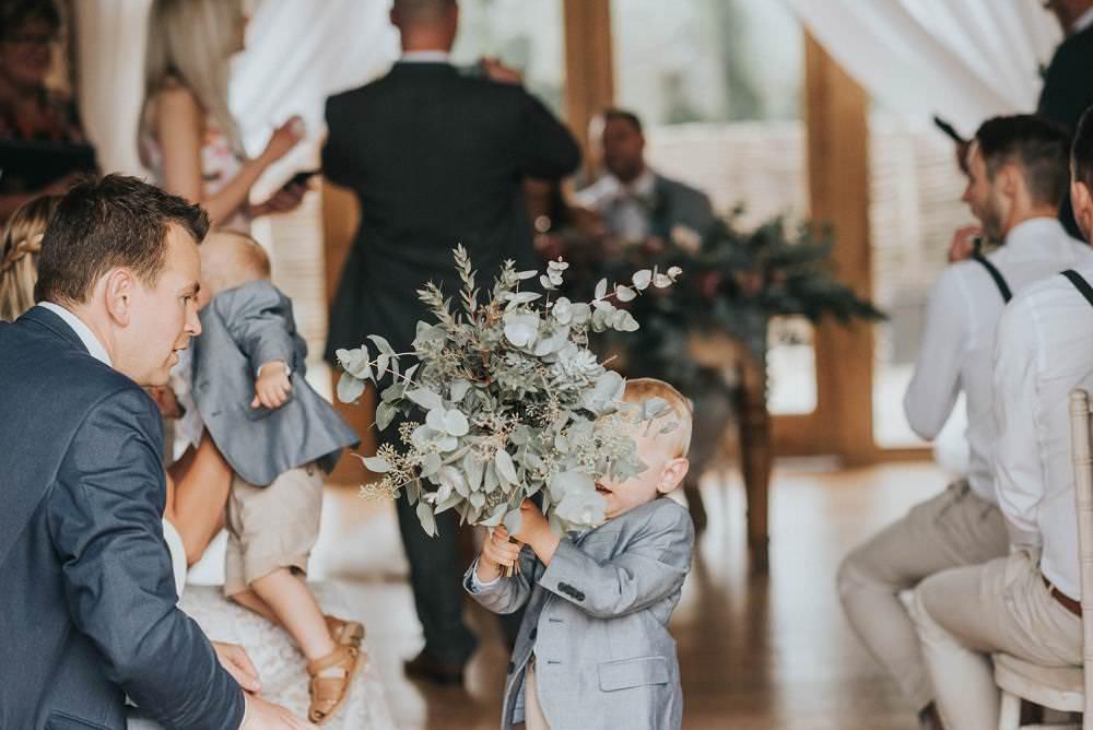 Foliage Bouquet Bride Bridal Flowers Large Wild Eucalyptus Boho Greenery Barn Wedding Kerry Diamond Photography