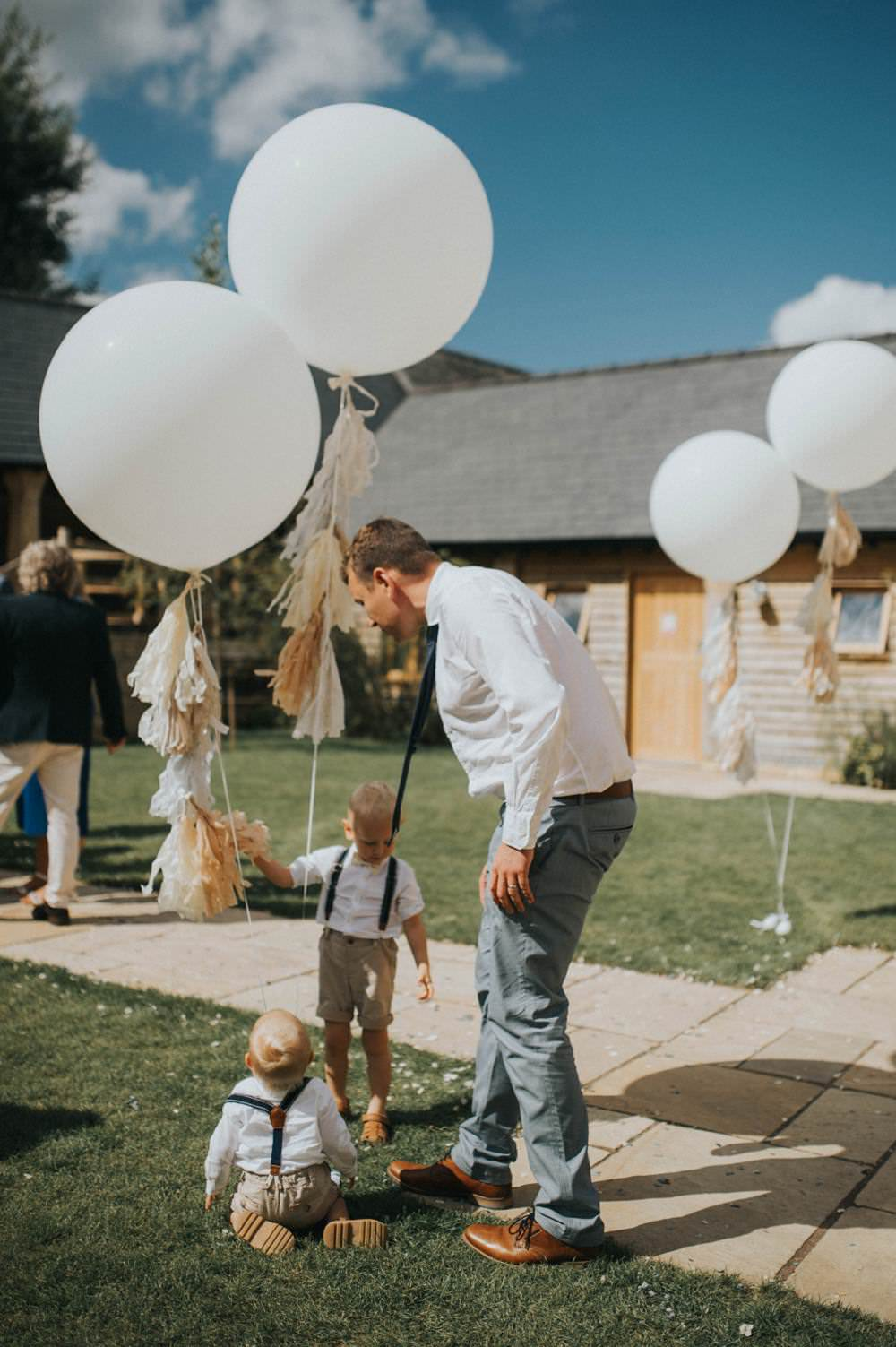 Giant Tassel Ballons Helium Decor Eucalyptus Boho Greenery Barn Wedding Kerry Diamond Photography