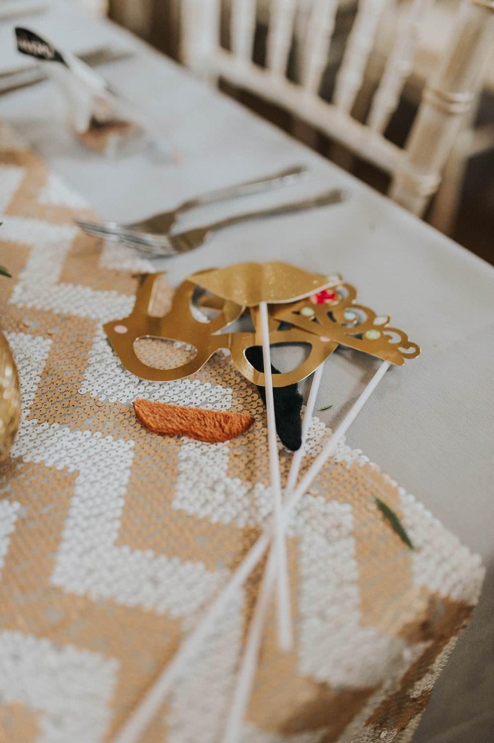 Photo Booth Props Eucalyptus Boho Greenery Barn Wedding Kerry Diamond Photography