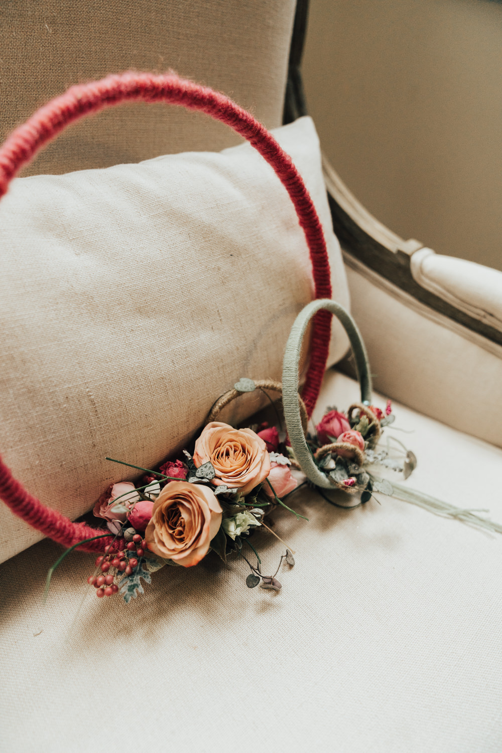 Wreath Flowers Floral Bouquet Bride Bridal Hoop Wedding Ideas Rebecca Carpenter Photography