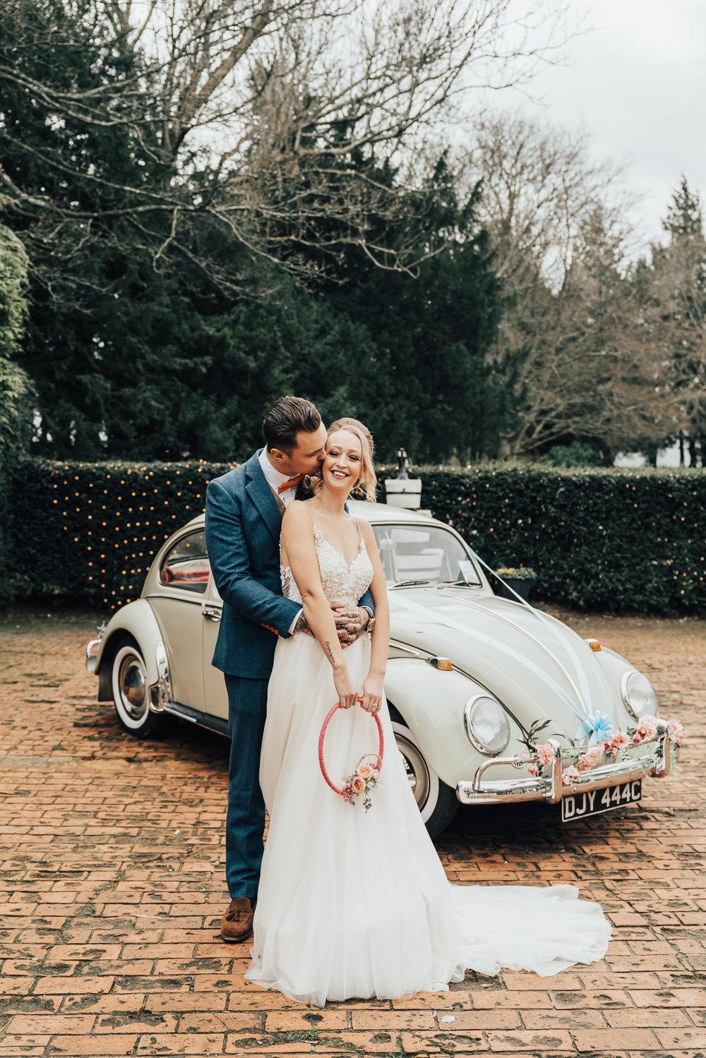 VW Beetle Car Transport Hoop Wedding Ideas Rebecca Carpenter Photography