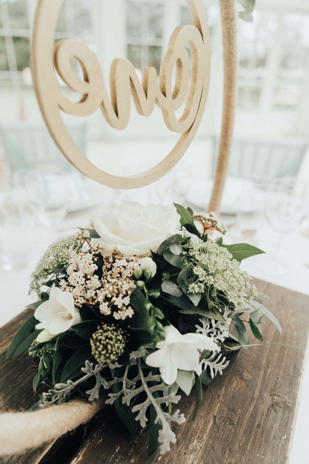 Table Flowers Centrepiece Greenery Foliage Rose Hoop Wedding Ideas Rebecca Carpenter Photography