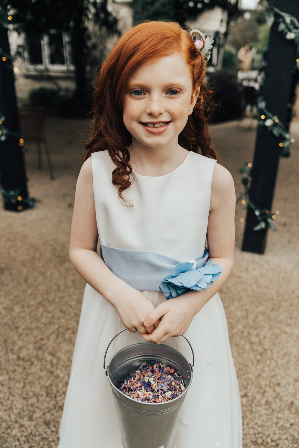 Confetti Bucket Petals Hoop Wedding Ideas Rebecca Carpenter Photography