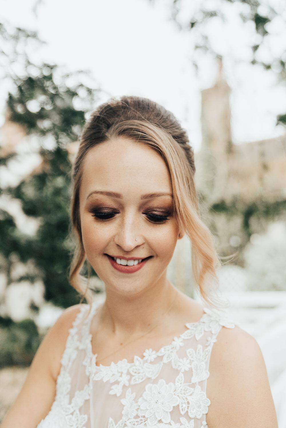 Bride Bridal Make Up Hoop Wedding Ideas Rebecca Carpenter Photography