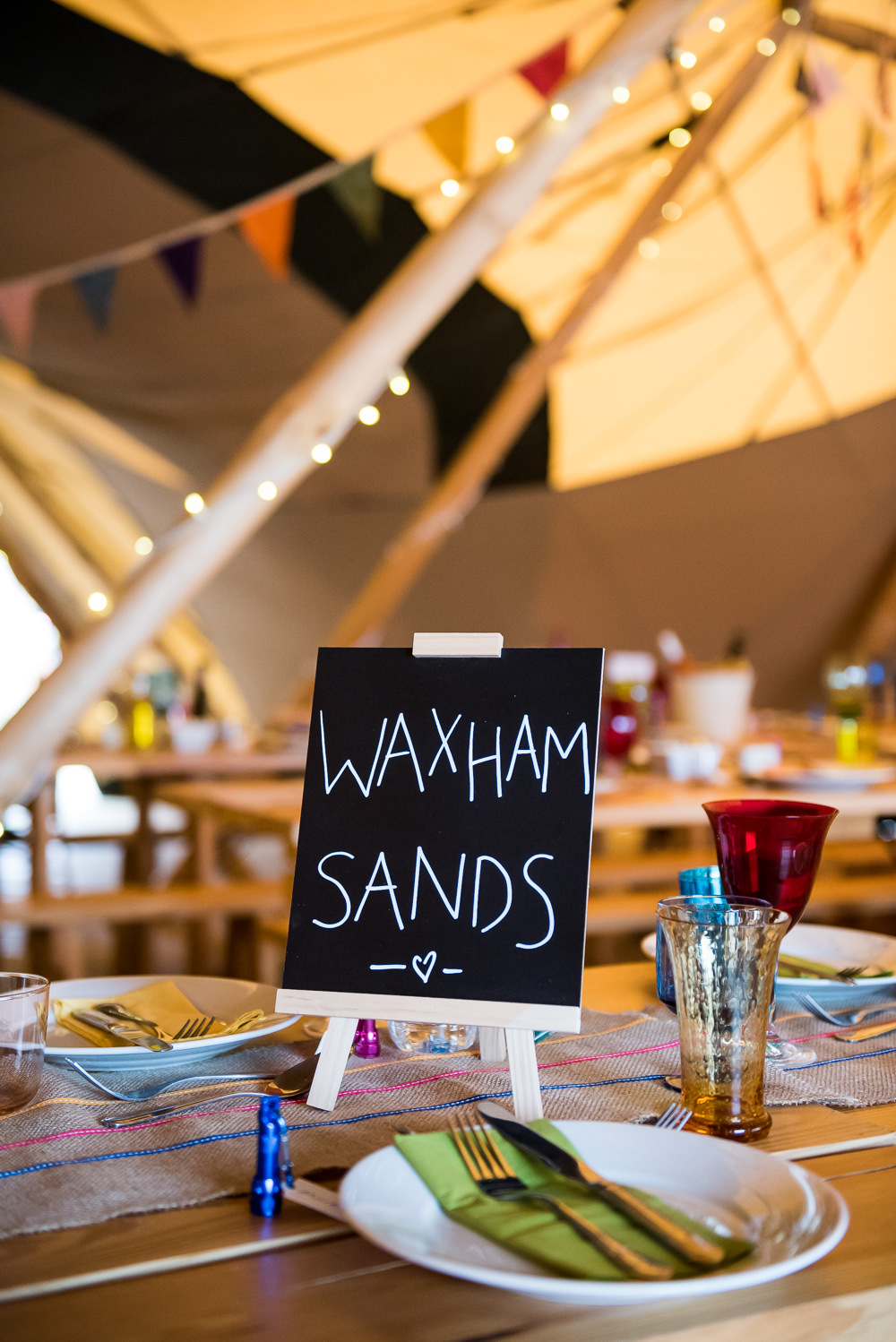 Mini Chalk Board Table Name Tipi Inkersall Grange Farm Wedding Jessica Grace Photography