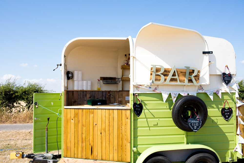 Horsebox Bar Meon Bye Farm Wedding Jessica Hayman Photography