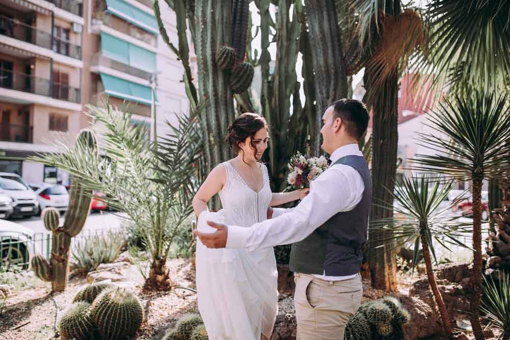 First Look Mountain Wedding Spain Lorena Erre