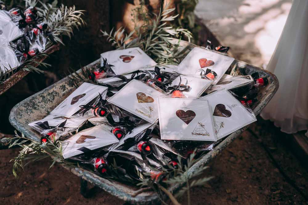 Favours Hearts Pouches Mountain Wedding Spain Lorena Erre