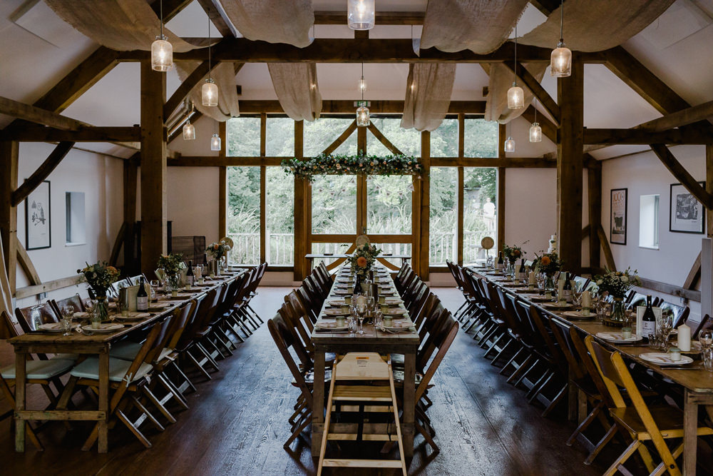 Rustic Trestle Tables Wooden Barn Nancarrow Farm Wedding Alexa Poppe Wedding Photography
