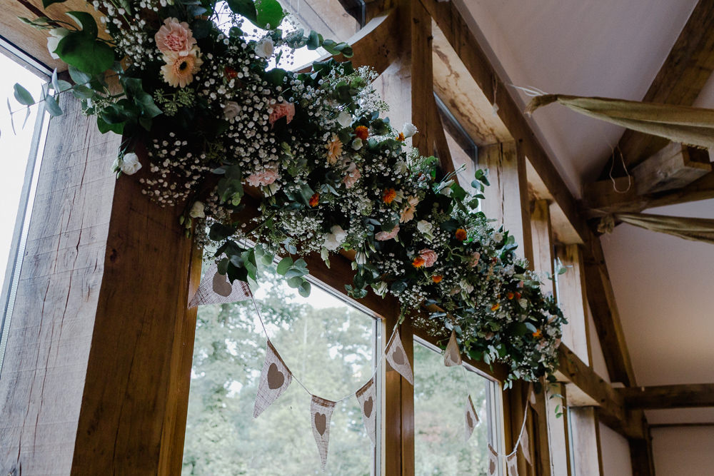 Floral Garland Greenery Flowers Gypsophila Bunting Nancarrow Farm Wedding Alexa Poppe Wedding Photography