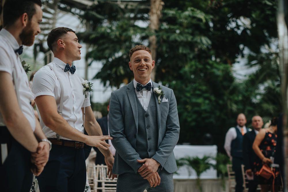 Groomsmen Braces Groom Suit Blue Bow Tie Sefton Park Wedding Bloom Weddings