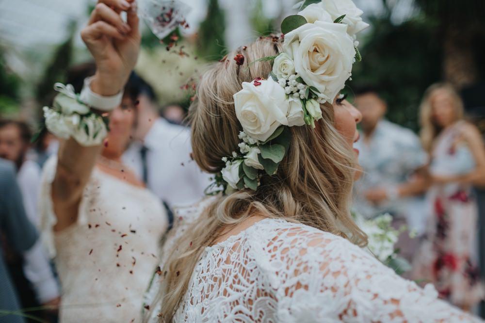 Bride Bridal Flower Crown Rose Sefton Park Wedding Bloom Weddings