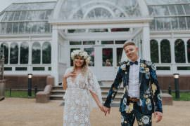 Groom Suit Floral Print Bow Tie Sefton Park Wedding Bloom Weddings