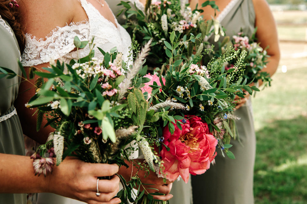 Foliage Blousy Flowers Bouquet Bride Bridal Stanford Farm Wedding Andy Griffiths Photography