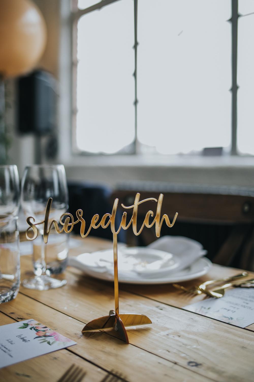 Gold Laser Cut Table Name Wimborne House Wedding Eva Photography