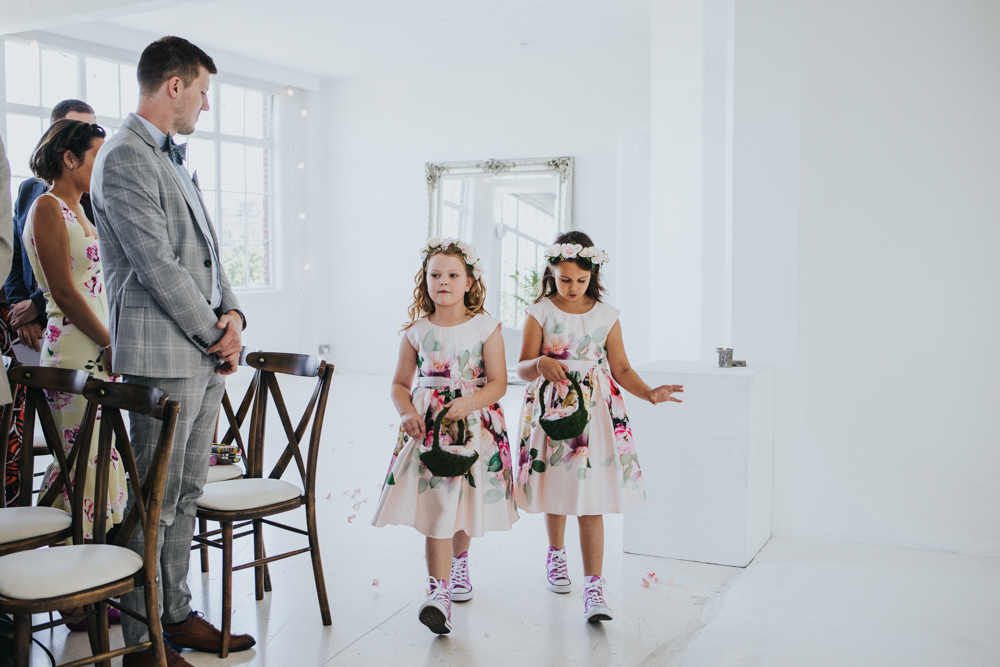 Floral Flower Girl Dresses Wimborne House Wedding Eva Photography