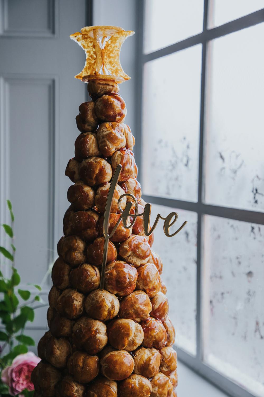 Croquembouche Cake Tower Wimborne House Wedding Eva Photography