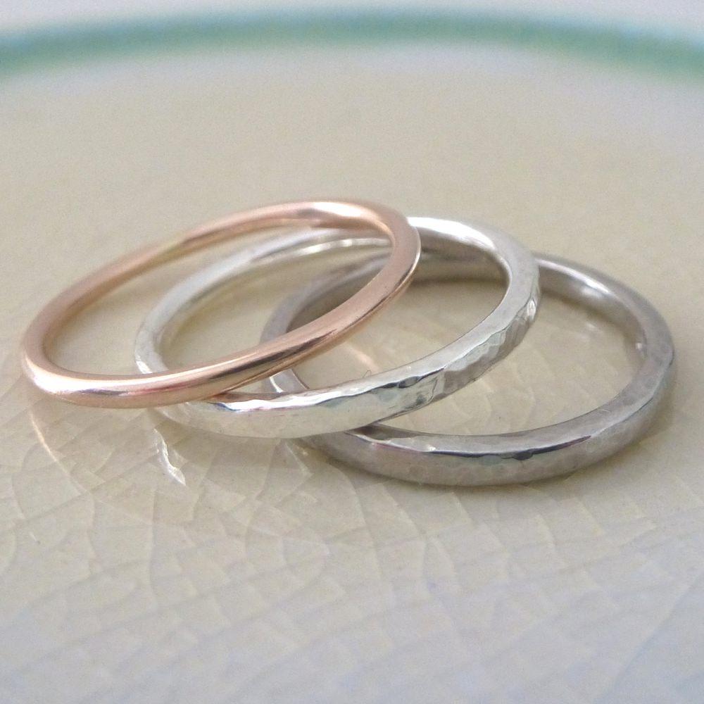 Wedding Engagement Ring Metals Rose Gold Sterling Silver Palladium