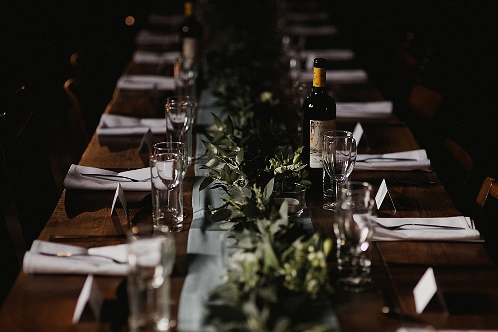 Table Tablescape Greenery Foliage Runner Garland Swag Abbeydale Picture House Wedding We Are Da Silva