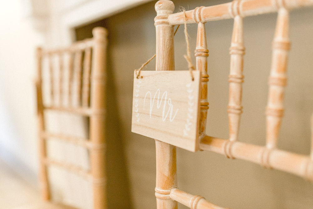 Chair Sign Signage Wooden Autumnal Boho Wedding Ivory White Photography