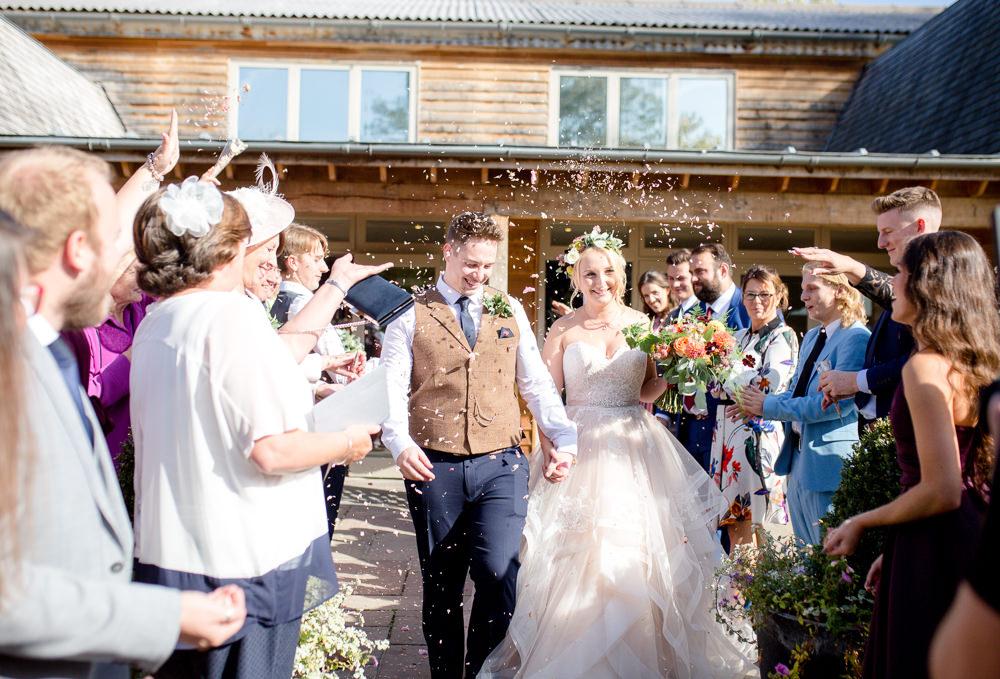 Confetti Throw Autumnal Boho Wedding Ivory White Photography
