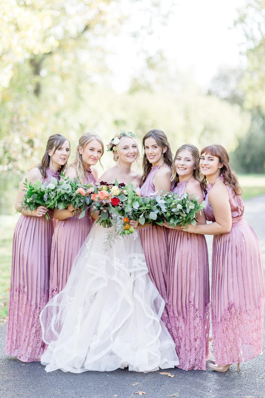 Long Pink Maxi Bridesmaid Dress Dresses Autumnal Boho Wedding Ivory White Photography