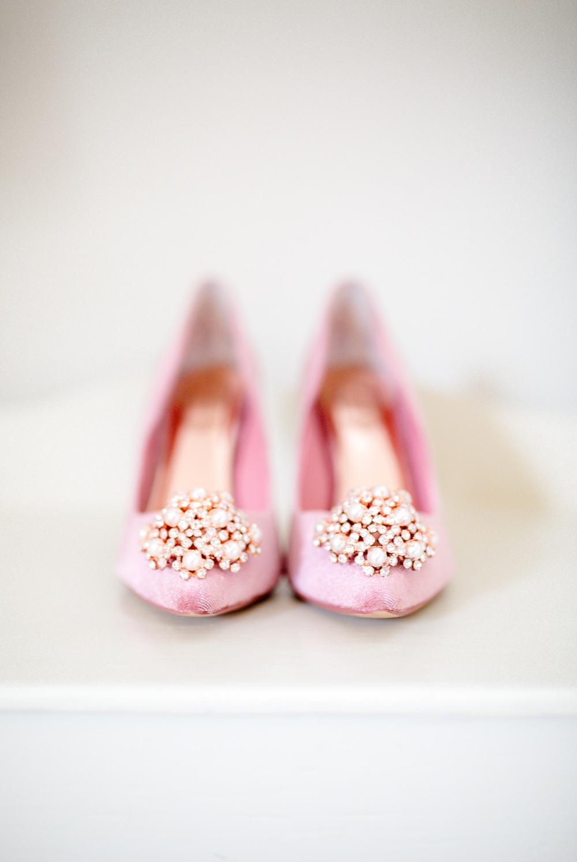 Pink Shoes Heels Bride Bridal Autumnal Boho Wedding Ivory White Photography