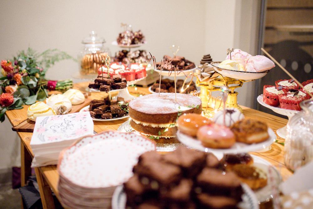 Cake Dessert Table Autumnal Boho Wedding Ivory White Photography
