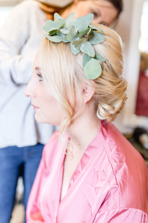 Bride Bridal Flower Crown Greenery Autumnal Boho Wedding Ivory White Photography